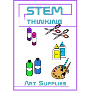 Arts and Crafts Supplies Clip Art , Back to School , 51 Images